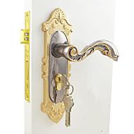 serrure de porte intérieure / lock set / or et noir finition de placage ni (disponible pour épaisseur de la porte: 35mm à 50mm)