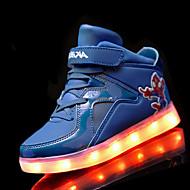 לבנים-נעלי אתלטיקה-PU-נוחות להאיר נעליים-שחור כחול אדום לבן-ספורט-עקב שטוח