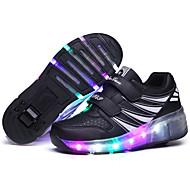 יוניסקס-נעלי ספורט-סינטתי-נוחות-שחור ורוד-שטח יומיומי-עקב שטוח