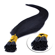 """16"""" brun moyen (# 4) 100s bâton pointe extensions de cheveux humains"""