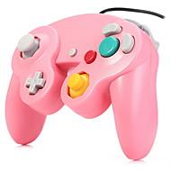 kabelové turbo šok herní ovladač pro GameCube NGC a Wii / Wii u (bílá)