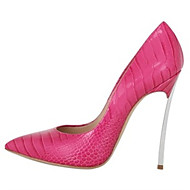 Women's Heels Spring Summer Fall Other Leatherette Office & Career Dress Casual Party & Evening Stiletto Heel Animal Print Blue Pink Red