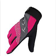 手袋 スポーツグローブ フリーサイズ サイクルグローブ 春 秋 冬 サイクルグローブ 高通気性 耐衝撃性 耐久性 速乾性 フルフィンガー メッシュ 合成繊維 レッド ブラック ブルー サイクリング