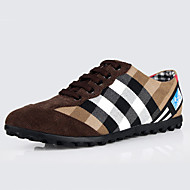 Men's Sneakers Spring Fall Comfort Canvas Casual Flat Heel Lace-up Blue Brown Burgundy