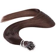 "neitsi® 20 ""θηλιά δακτυλίου νανο ίσια μαλλιά 100% επεκτάσεις ανθρώπινα μαλλιών 1g / s μαύρο 2 # περιλαμβάνουν εργαλεία τα μαλλιά"