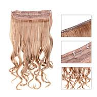 5 klipp bølget jordbær blonde (# 27) syntetisk hår klippet i hair extensions for damer flere farger