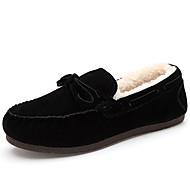 Kényelmes Mokaszin-Lapos-Női cipő-Papucsok & Balerinacipők-Alkalmi-PU-Fekete Kék Sárga Rózsaszín