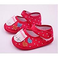 Barn Baby Flate sko Første gåsko Tekstil Avslappet Første gåsko Svart Rød Rosa Flat