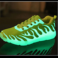 Luminous Unisex Sneakers Spring Summer Fall Winter Comfort PU Outdoor Casual Athletic Low Heel Lace-up Black Yellow