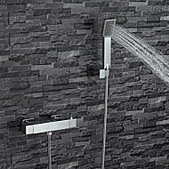 Současné Pouze sprcha Termostatický Včetne sprchové hlavice with  Mosazný ventil Dvěma uchy dva otvory for  Pochromovaný , Sprchová