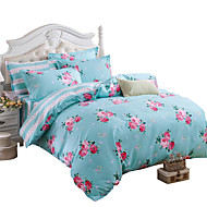 Mingjie Wonderful Blue Flowers Bedding Sets 4PCS for Twin Full Queen King Size from China Contian 1 Duvet Cover 1 Flatsheet 2 Pillowcases