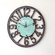 Modern/Contemporary Casual Office/Business Family Birthday Wall Clock,Round Novelty Plastic Metal Indoor Clock