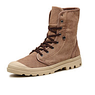 Men's Boots Fall Comfort Canvas Outdoor Casual Athletic Flat Heel Others Beige Camel Others