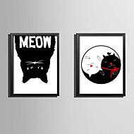 Slova & Citáty Kanvas v rámu Set v rámu Wall Art,PVC Materiál Černá Bez pasparty s rámem For Home dekorace rám Art