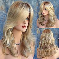 aparência natural onda de comprimento médio peruca loira sexy vestindo dialy calor peruca resistente de alta qualidade barato
