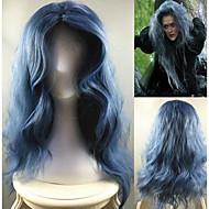 Kvinder Blå Vannbølger Syntetisk hår Lokkløs Halloween parykk Karneval Parykk Cosplay-parykk