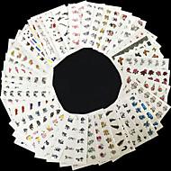 Bloem / Punk - Vinger - 3D Nagelstickers / Nagelsieraden - PVC - 50pcs - stuks 62mm*52mm - (cm)