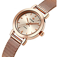 WWOOR Women's Fashion Strap Watch Quartz Water Resistant / Water Proof Stainless Steel Band Charm Luxury Casual Silver Gold Rose Gold Wrist Watch