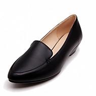 נשים-נעליים ללא שרוכים-דמוי עור עור פטנט-חדשני נוחות-שחור כחול ורוד לבן-חתונה משרד ועבודה קז'ואל מסיבה וערב שמלה-עקב וודג'