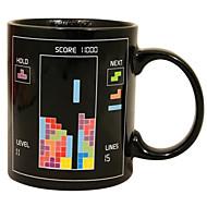 retro jaren '80 video game mokken tetris warmte kleurverandering koffiekopje keramische (3.2x.2x3.8 inch)