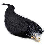 """16 """"-24"""" βραζιλιάνα ανθρώπινα μαλλιά 100s μικρο βρόχο επέκταση μαλλιά ίσια μαλλιά # 1b, # 2, # 8, # 33, # 613 σε μετοχές"""