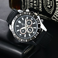 Men's Sport Watch Military Watch Dress Watch Fashion Watch Quartz Silicone Band Casual Black White Red Navy