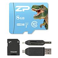 ZP 8GB MicroSD Classe 10 80 Outro Leitor de Cartão Tudo-em-Um Leitor de Cartão Micro SD Leitor de Cartão SD ZP-1 USB 2.0