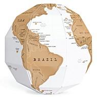 DIY kreative Kratzer Globus Montage 3D-Stereo-Globus Weltkarte vertikale Welt Geschenk