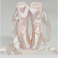 Dámské Balet Satén Plná špička Uvnitř Rovná podrážka Růžová Obyčejné