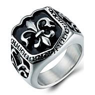 Maxi anel Anel Aço Titânio Moda Prata Jóias Diário Casual 1peça