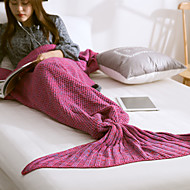 TricotadoFios Tingidos Sólido 100% Acrílico cobertores S:59*90cm M:70*140cm L:80*180cm
