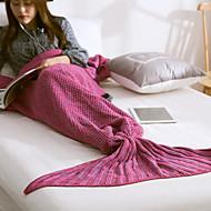 KnittedYarn-dyed Solid 100% Acrylic Blankets