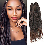 Senegal Twist pletenice Ekstenzije za kosu 20Inch Kanekalon 35 Strands (Recommended By 3 Packs for a Full Head) Nasukati 98g gramSušilo