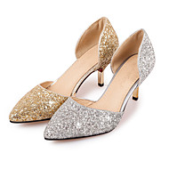 Women's Heels Glitter Spring Summer Fall Wedding Office & Career Party & Evening Sequin Stiletto Heel Gold Silver 2in-2 3/4in