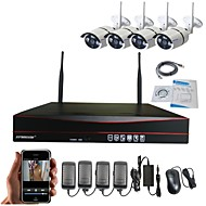 Strongshine@ 4CH H.264  Wireless NVR with 960P Waterproof / Infrared WIFI IP Camera  Surveillance System Kits