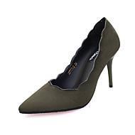 Homme-Décontracté-Noir Vert Gris-Talon Bas-Confort-Chaussures à Talons-Polyuréthane