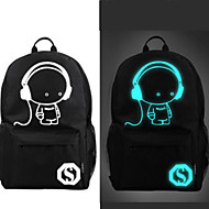 Sports Casual Outdoor Backpack Unisex Polyester Black