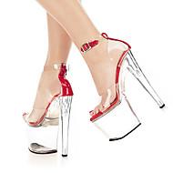 נשים-סנדלים-PVC-נוחות חדשני-שחור אדום-חתונה שמלה מסיבה וערב-עקב סטילטו