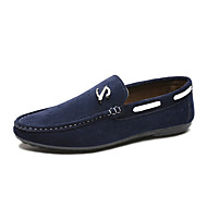 New Arrival Men's Boat Shoes Comfort Walking Shoes  Office & Career Casual Flat Heel Black / Blue / Brown Walking