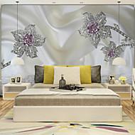 Art Deco 3D Pozadina Za kuću Klasika Zidnih obloga , Canvas Materijal Ljepila potrebna Mural , Soba dekoracija ili zaštita za zid