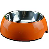 Chat Chien Bols & Bouteilles d'eau Animaux de Compagnie Bols & alimentation Portable Pliable Blanc Bleu Orange Silicone