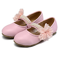 שטוחות-דמוי עור-נוחות נעלי ילדת הפרח להאיר נעליים-ורוד בז' אבטיח-חתונה שמלה יומיומי מסיבה וערב-עקב שטוח
