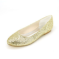 Women's Flats Spring Summer Fall Other Glitter Wedding Party & Evening Casual Flat Heel Black Gold Sliver Other