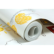 Art Deco Dyremønster Tapet til Hjemmet Moderne Tapetsering , Non-woven papir Materiale selvklebende nødvendig bakgrunns , Tapet