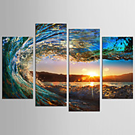 Canvas Set Landskab Still Life Moderne Klassisk,Fire Paneler Canvas Alle Shape Print Art Wall Decor For Hjem Dekoration