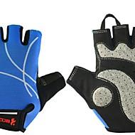 BODUN / SIDEBIKE® כפפות ספורט/ פעילות כל כפפות רכיבה קיץ כפפות אופניים עמיד בפני שחיקה לביש מגן בלי אצבעות רשת כפפות רכיבה כחול בהיררכיבה