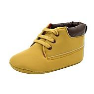Boty-Koženka-Pohodlné-Chlapecké-Žlutá Růžová-Outdoor Běžné-Plochá podrážka