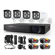 YanSe® 4CH AHD Waterproof Wired DVR Kit 720P HD IR Night Vision Security CCTV System 1200TVL