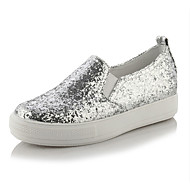 Women's Sneakers Spring Summer Fall Glitter Casual Party & Evening Wedge Heel Sequin Gold Black Silver Walking