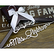 Personalized Wedding Hanger with Name and Date Bridal Bridesmaid Wedding Dress Hanger Gift